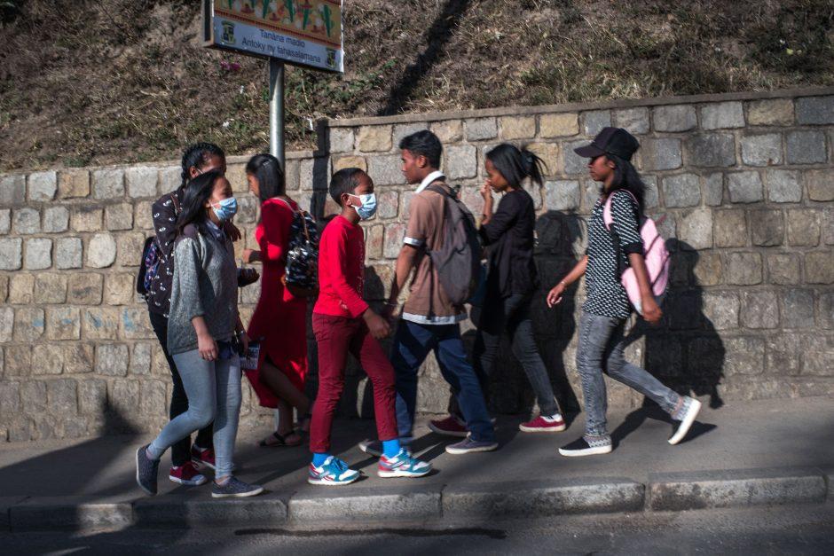 Madagaskare paniką sėja plintantis maras
