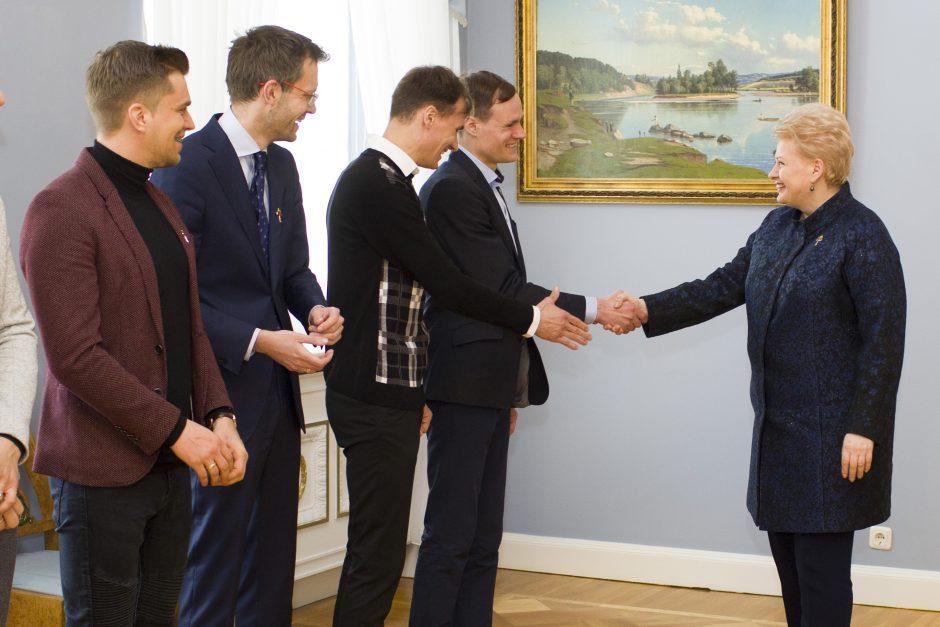 """Su kompanijos """"Už saugią Lietuvą"""" ambasadoriais aptarė nuveiktus darbus"""