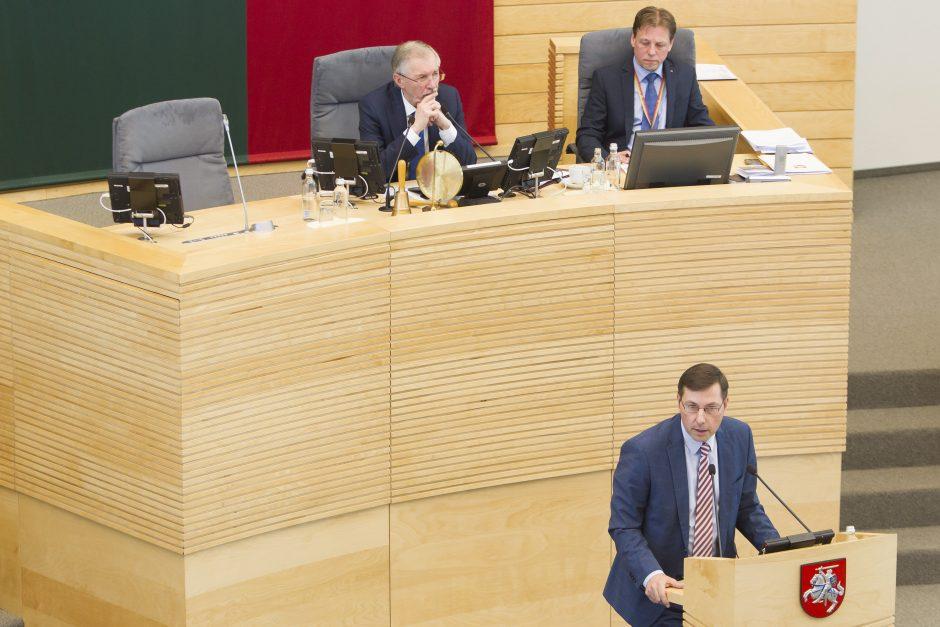 Posėdis dėl G. Steponavičiaus neliečiamybės