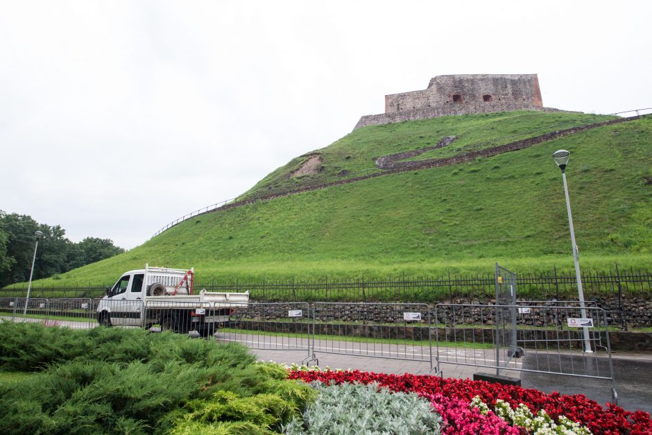 Gedimino kalnas uždarytas lankytojams