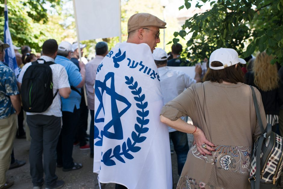 Žydai surengė protesto akciją