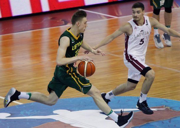 Europos čempionate Lietuvos 20-mečiai įveikė latvius ir grupėje liko antri