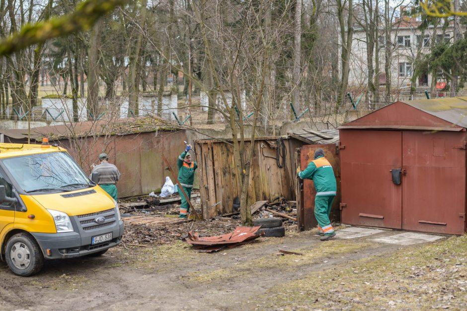 Skelbia apie laimėtą kovą: neteisėti garažai Kaune išnyko per metus
