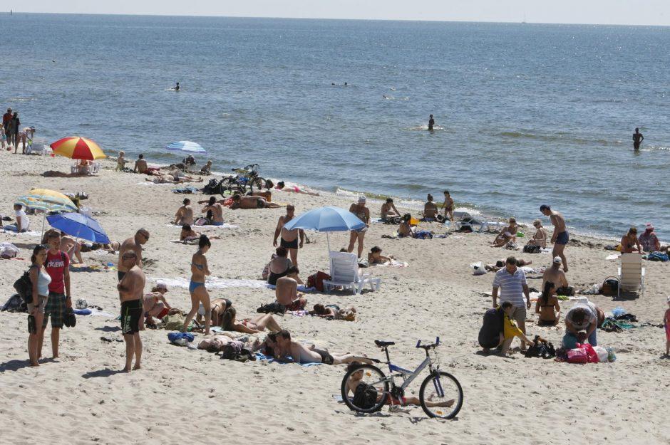 Smiltynės pliaže šeimos akivaizdoje mirė pusamžis vyras