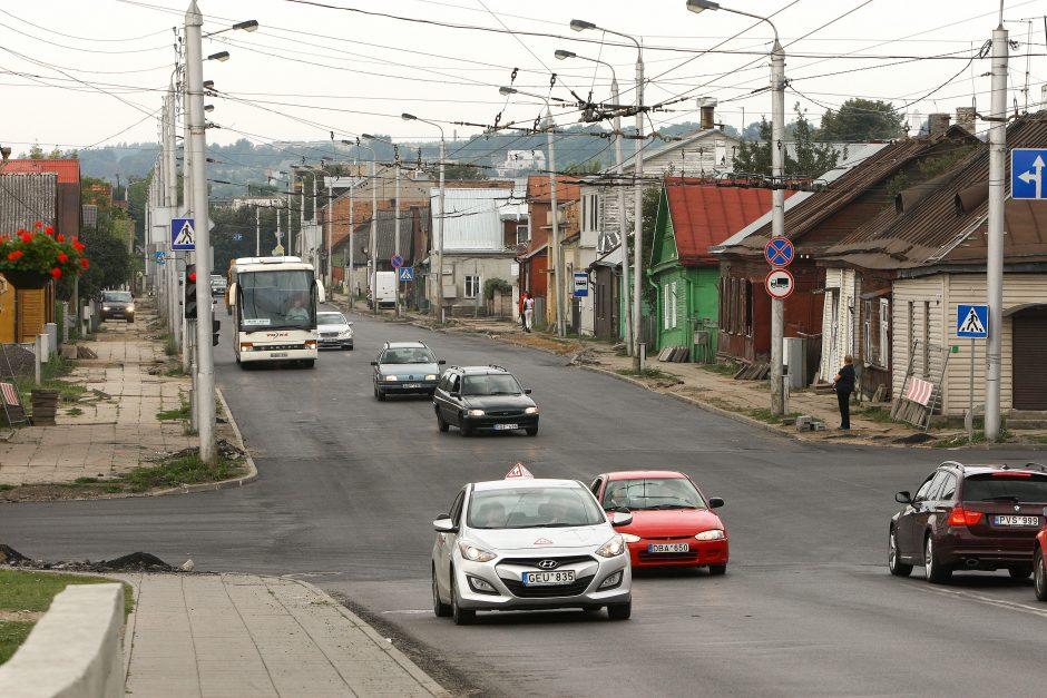 Po remonto atnaujintas eismas Jurbarko gatvėje