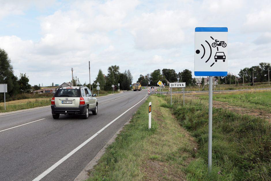 Pamirštas ženklas stebino vairuotojus