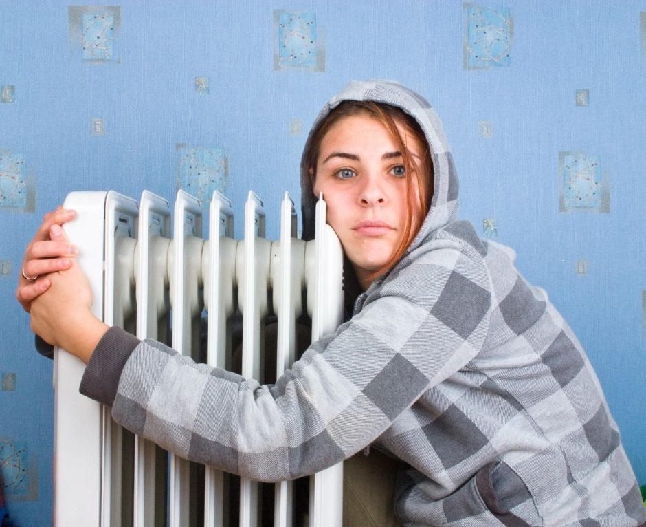 Šilumą vagia tušti butai