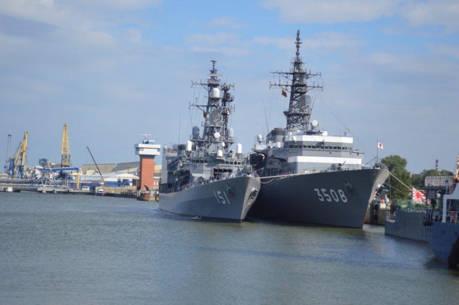Klaipėdą užplūs užsienio karo laivai ir jūrininkai