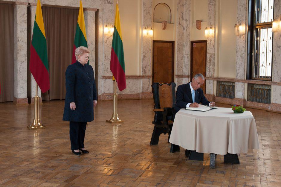 Lietuvos ir Portugalijos prezidentai Kaune kalbėjosi apie grėsmes