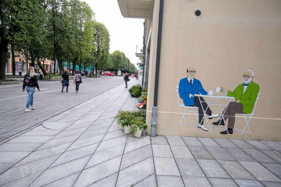 V. Matijošaitis ir A. Karalius tapo gatvės meno herojais