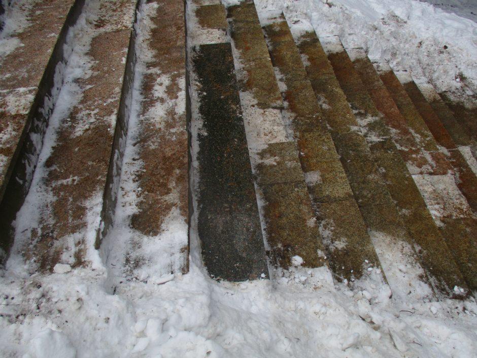 Keliaujantiems į Panemunės šilą – klastingas laiptų barjeras
