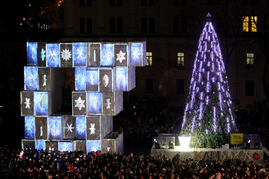 Kalėdų eglės įžiebimas Kaune