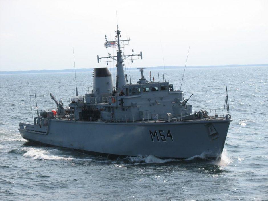 NATO ekspertai vertins Lietuvos karo laivo pasirengimą