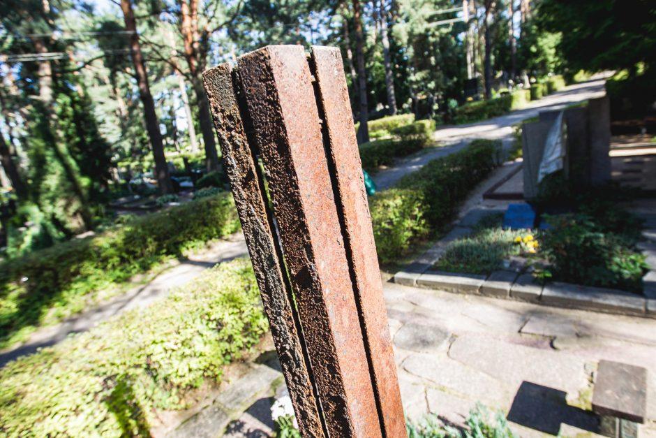 Metalo vagys išniekino dramaturgo R. Samulevičiaus kapą