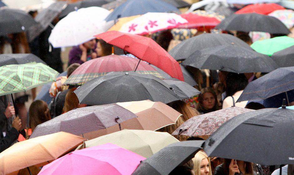 Visą savaitgalį pajūrį merks lietus