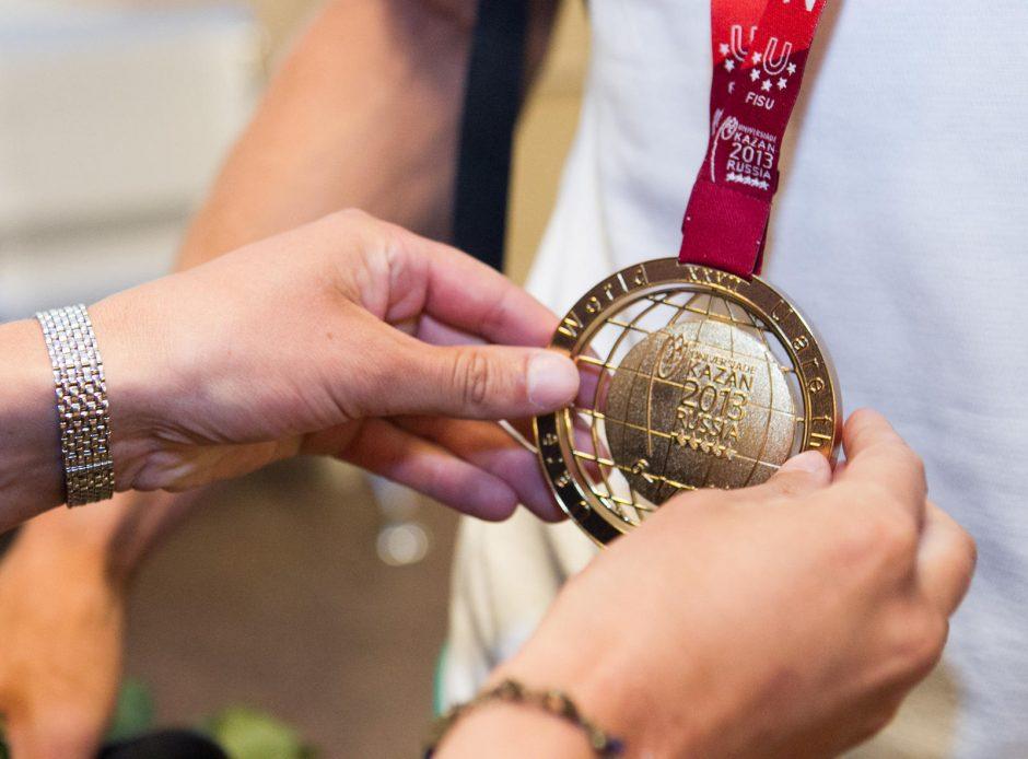 Jau penkis medalius universiadoje iškovoję lietuviai toliau lenkia amerikiečius