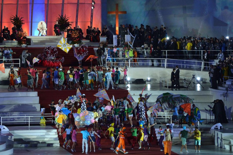 Brazilijoje 1,5 mln. žmonių susirinko pamatyti