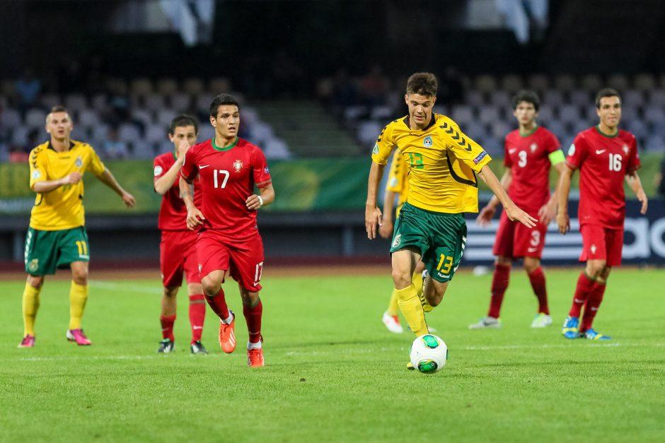 Europos jaunimo futbolo čempionatas: Lietuva - Portugalija