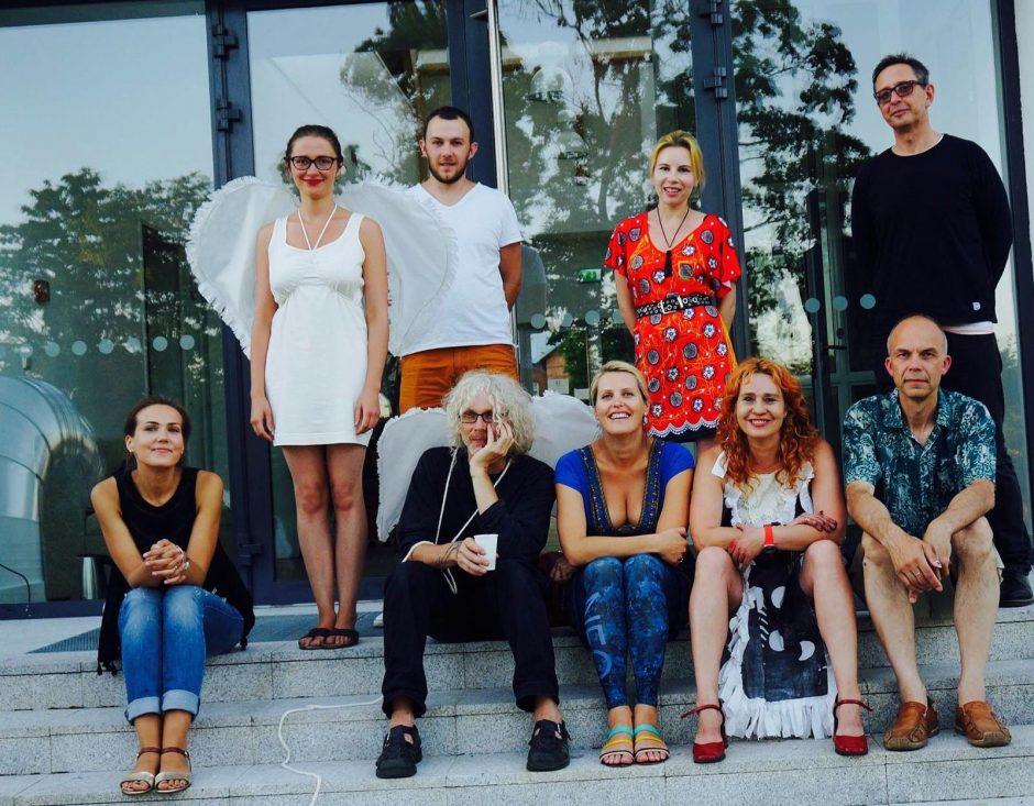 Šiaurės šalių menininkų performansas – Etnokosmologijos muziejaus kupole