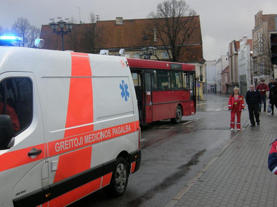 Uostamiesčio centre susidūrė autobusai