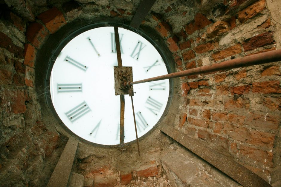 Sustojo pagrindinis miesto laikrodis