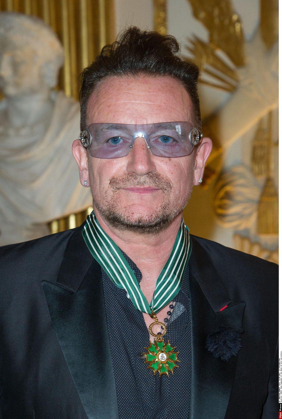 Bono gavo aukščiausią Prancūzijos kultūros apdovanojimą
