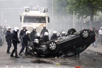 Briuselyje - žvejų susirėmimai su policija