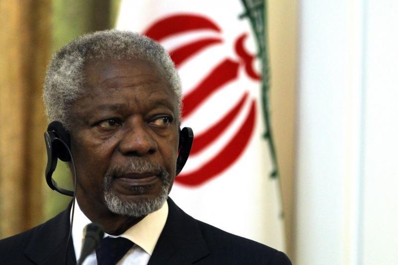 """K.Annanas: karinei intervencijai Sirijoje jau """"per vėlu"""""""