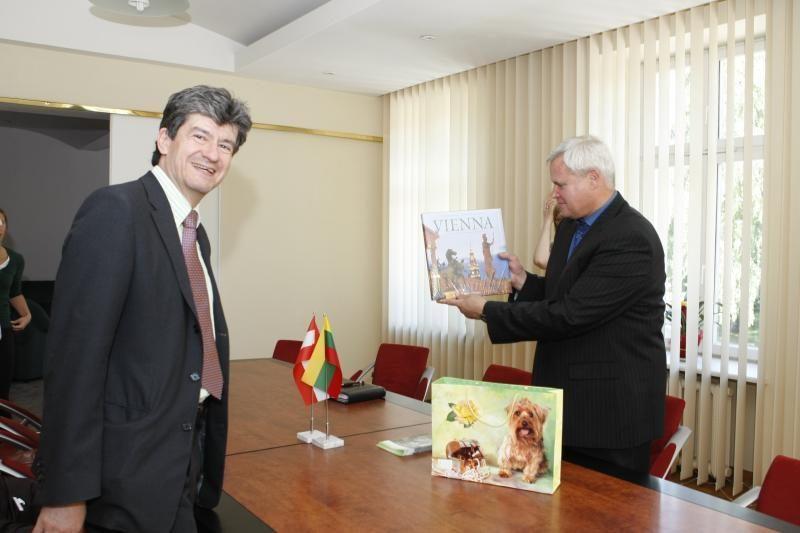 Naujojoje Klaipėdos mero svetainėje - susitikimas su Austrijos ambasadoriumi