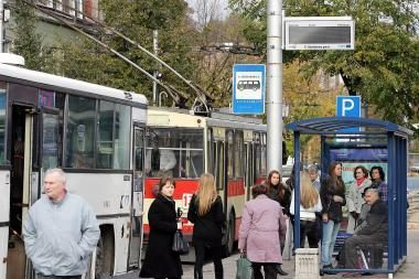 Pradėjo veikti transporto informacinės švieslentės