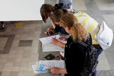 Studentai treniravosi darbo paieškoms
