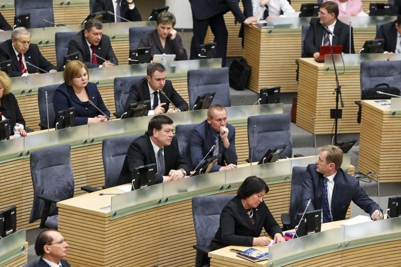 Dvidešimt parlamentarų nedeklaravo savo privačių interesų