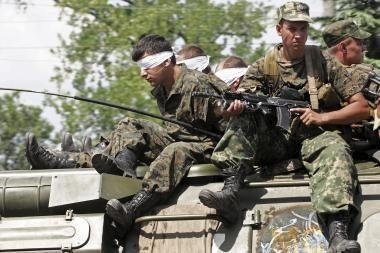 Rusai paleido gruzinų belaisvius