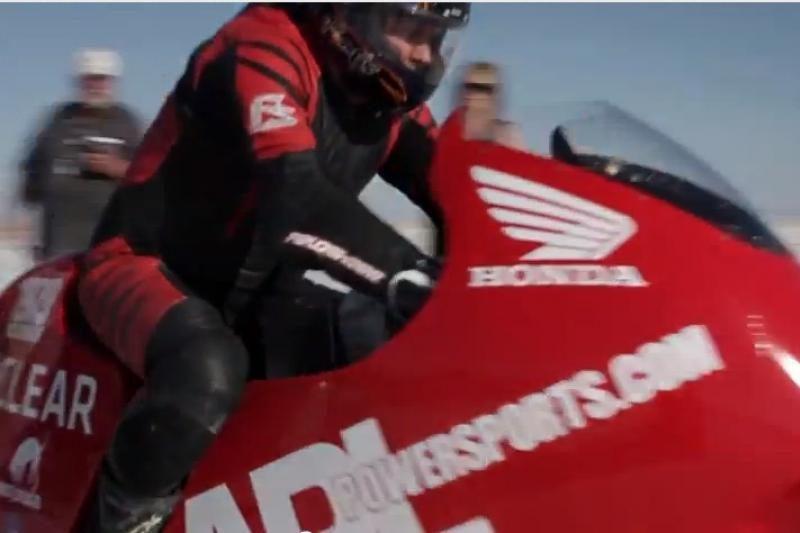 Koks yra sportinio motociklo greičio rekordas?