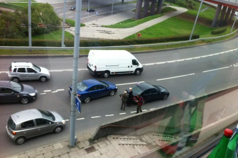 N. Venckienė Vilniuje pateko  į avariją