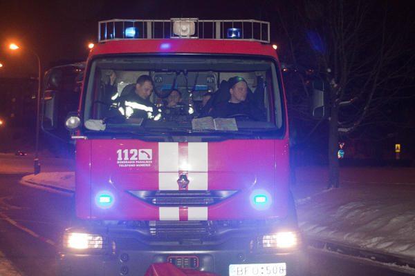 Klaipėdos daugiabutyje naktį kilo gaisras