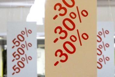 Kiek smuko mažmeninės prekybos bendrovių apyvarta?
