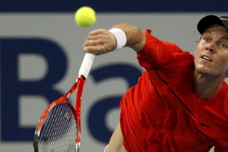 ATP turnyre Šveicarijoje krito vienas iš favoritų