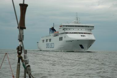 Lenkijos laivų remonto įmonėje Gdanske degė keleivinis keltas