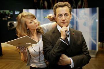 Londone – vaškinis N.Sarkozy