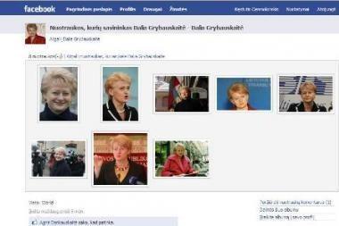 "Prezidentė D.Grybauskaitė - ""Facebook"