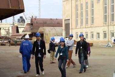 Jaunimas iš Japonijos domėjosi laivų statyba