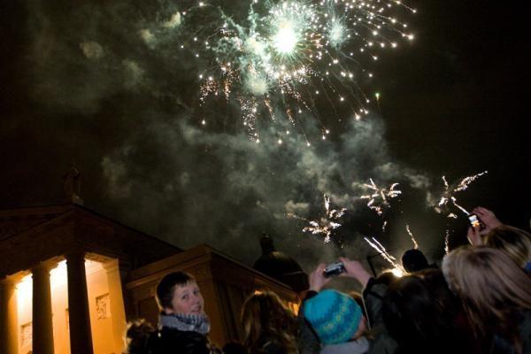 Vilniuje įžiebta nacionalinė Kalėdų eglė (foto)
