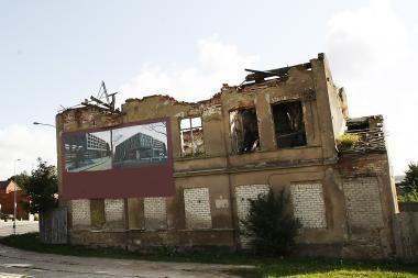 """Vilniuje mažėja pastatų """"vaiduoklių"""""""