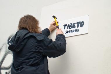 Vilniuje atidaromas Tibeto skveras