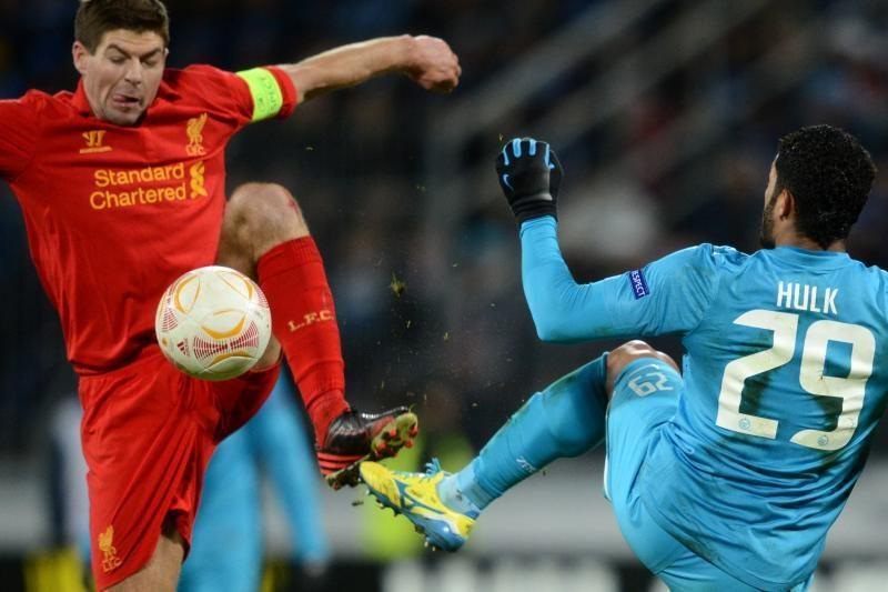 """Europos lyga: Hulko vedamas """"Zenit"""" įveikė """"Liverpool"""" (rezultatai)"""