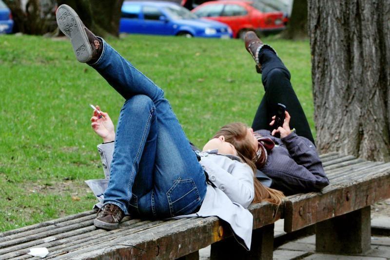 Palangoje  įvedamos  nerūkymo   zonos