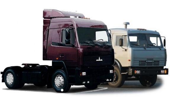 Rusijos ir Baltarusijos sunkvežimių gamintojai susijungė