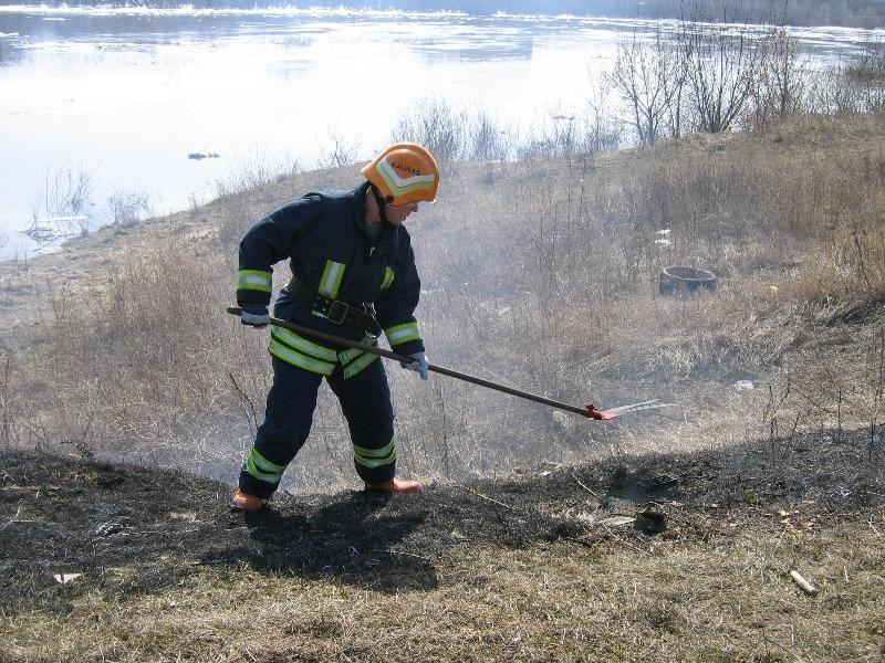 Ugniagesiai vos spėja gesinti degančią žolę, kaltųjų – nė vieno