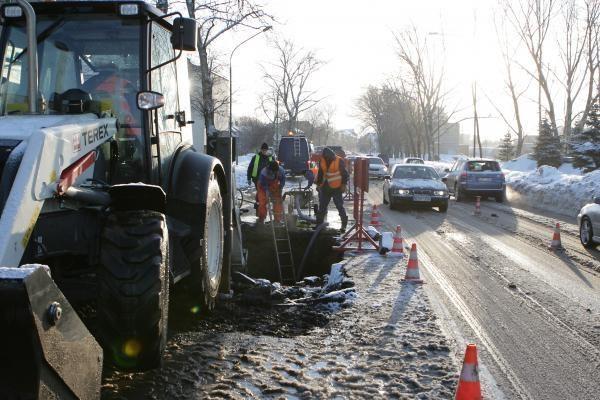 Pilies gatvėje – vandentiekio avarija